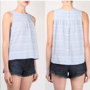 The GREAT blue chambray top